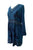 05 DR Womens Sweet Empire Gothic Medieval Slit Cuff Knee Length Dress - Agan Traders, Blue