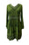 05 DR Womens Sweet Empire Gothic Medieval Slit Cuff Knee Length Dress - Agan Traders, Green