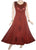 Rich Elegant Satin Blend Renaissance Sleeveless Summer Sun Dress Gown - Agan Traders, Red/Burgundy