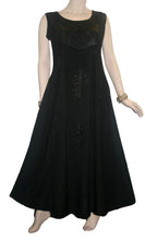 Rich Elegant Satin Blend Renaissance Sleveless Summer Sun Dress Gown - Agan Traders, Black