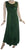 Rich Elegant Satin Blend Renaissance Sleveless Summer Sun Dress Gown - Agan Traders, Hunter Green