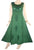 Rich Elegant Satin Blend Renaissance Sleeveless Summer Sun Dress Gown - Agan Traders,  Emerald Green
