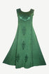 1004 DR Roman Victorian Sleeveless Embroidered Summer Dress