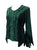 Gypsy Medieval Renaissance Vintage Bohemian Stylish Top Blouse - Agan Traders, Hunter Green