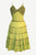 Wedding Gothic Renaissance Long Spaghetti Strap Dress - Agan Traders, Lime Green