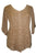 Scooped Neck Medieval  Embroidered Blouse - Agan Traders, Camel