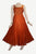 Lace Wedding Evening Vintage Sleeveless Strap Dress - Agan Traders, Orange Rust