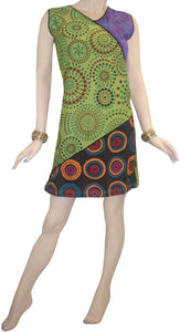 RD 12 Agan Traders Nepal Bohemian Knit Light Weight Cotton Mid Length Summer Dress - Agan Traders, Multi 12