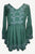 Medieval Embroidered Medieval Embroidered Tunic Blouse - Agan Traders, Green