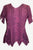 Gypsy Medieval Netted Asymmetrical Vintage Top Blouse - Agan Traders, Plum Burgundy