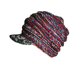 Multi-colored Knit Blended Wool Mismatched 'Folding' Mitten, Gloves Or Hat - Agan Traders, 1417 H1