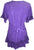 Medieval Peasant Bohemian Ruffle Gypsy Ari Blouse Top - Agan Traders, Purple