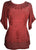 Medieval Renaissance Peasant Gypsy Ari Lace Blouse Top - Agan Traders, B red