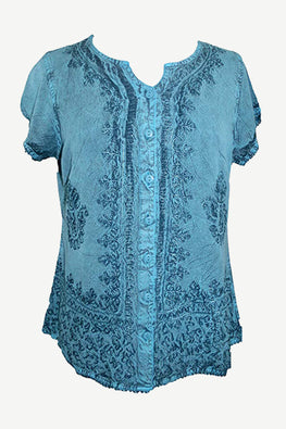 59379898c3 Medieval Bohemian Embroidered Top Shirt Blouse - Agan Traders