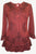 147 B Gypsy Medieval Ruffle Top Tunic Kurta Blouse India - Agan Traders, Burgundy