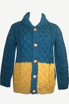 14 AW 82 Nepal Lambs Wool Women's Button Down Collar Sweater Cardigan