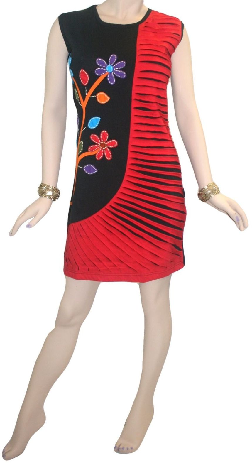 RD 17 Nepal Bohemian Cotton Summer Dress - Agan Traders, RDR Multi 17