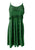 186017 DR Bohemian Spaghetti Strap Embroidered Smocked Elastic Mid Calf Sun Dress - Agan Traders, E green