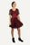 Peasant Bohemian Boho Net Corset Short Dress - Agan Traders, Black Red