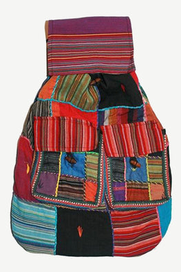 Agan Traders Bohemian Cotton Patchwork Gypsy Rucksack Backpack - Agan Traders, Style 10
