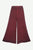 204 P Rayon Viscose Palazzo Belly Bottom Elastic Waistband Pant Trouser - Agan Traders, Burgundy
