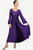 Scooped Neck Bohemian Rayon Velvet Corset Long Dress Gown - Agan Traders, Purple