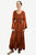 205 DR Renaissance Bell Sleeve Corset Scalloped Hem Dress Gown