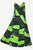 Rayon Geometric Print Mid Calf Dress (Green- S) - Agan Traders