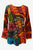 271 RB Bohemian Knit Tie-dye Patched Embroidered Shirt Blouse - Agan Traders; Red