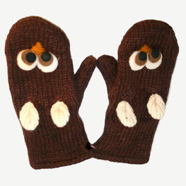 Kids Size - Himalayan Soft Wool Fleece Lined Animal Mitten