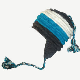 Assorted Designer's Style Highland Wool Knit Beanie Earflap Mitten