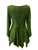 303 NB Bohemian Asymmetrical Blouse Tunic - Agan Traders, E Green