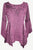 303 NB Bohemian Asymmetrical Blouse Tunic - Agan Traders, Plum