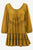 304 B Scooped Neck Ruffle Hem Bohemian Tunic - Agan Traders, Old Gold