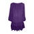 304 B Scooped Neck Ruffle Hem Bohemian Tunic - Agan Traders, Purple
