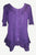 305 B Medieval Bohemian Embroidered Bottom Shirt Blouse - Agan Traders, Purple