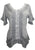 305 B Medieval Bohemian Embroidered Bottom Shirt Blouse - Agan Traders, Silver