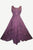 Sweet Empire Dazzling Flare Gothic Summer Costume Dress Gown - Agan Traders, Plum