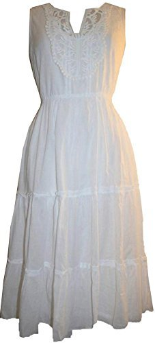 9999 D Agan Traders Soft Cotton Casual Summer Dress - Agan Traders, White