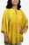 Rayon crape Bohemian Medieval Embroidered Tunic Blouse - Agan Traders, Yellow