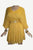 Rayon Crape Medieval Peasant Gothic Short Baby Doll Dress - Agan Traders, Yellow