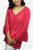 Rayon Crape Bohemian Long Bell Sleeve Medieval Top Tunic Blouse - Agan Traders, Coral