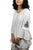 Rayon crape Bohemian Medieval Embroidered Top Blouse - Agan Traders, White