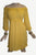 Rayon Crape Bohemian Medieval Peasant Gothic Short Baby Doll Dress - Agan Traders, Yellow