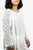 3903 B Rayon Crepe Bohemian Lace Sleeve Round Neck Summer Tunic Blouse