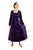 Renaissance Gothic Roman Medieval Velvet Long Dress Gown - Agan Traders, Purple