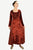 Renaissance Gothic Roman Medieval Velvet Long Dress Gown - Agan Traders, Burgundy
