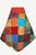 R 401 Agan Traders Rib Cotton Razor Cut Gypsy Funky Patch Skirt ~ Nepal - Agan Traders, Multicolor