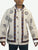 402 JKT Cotton Printed Fleece Lined Auspicious Symbols Tibetan Hoodie Jacket - Agan Traders, Off White