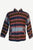 Wool Stripe Fleece Lined Tibetan Jacket Large